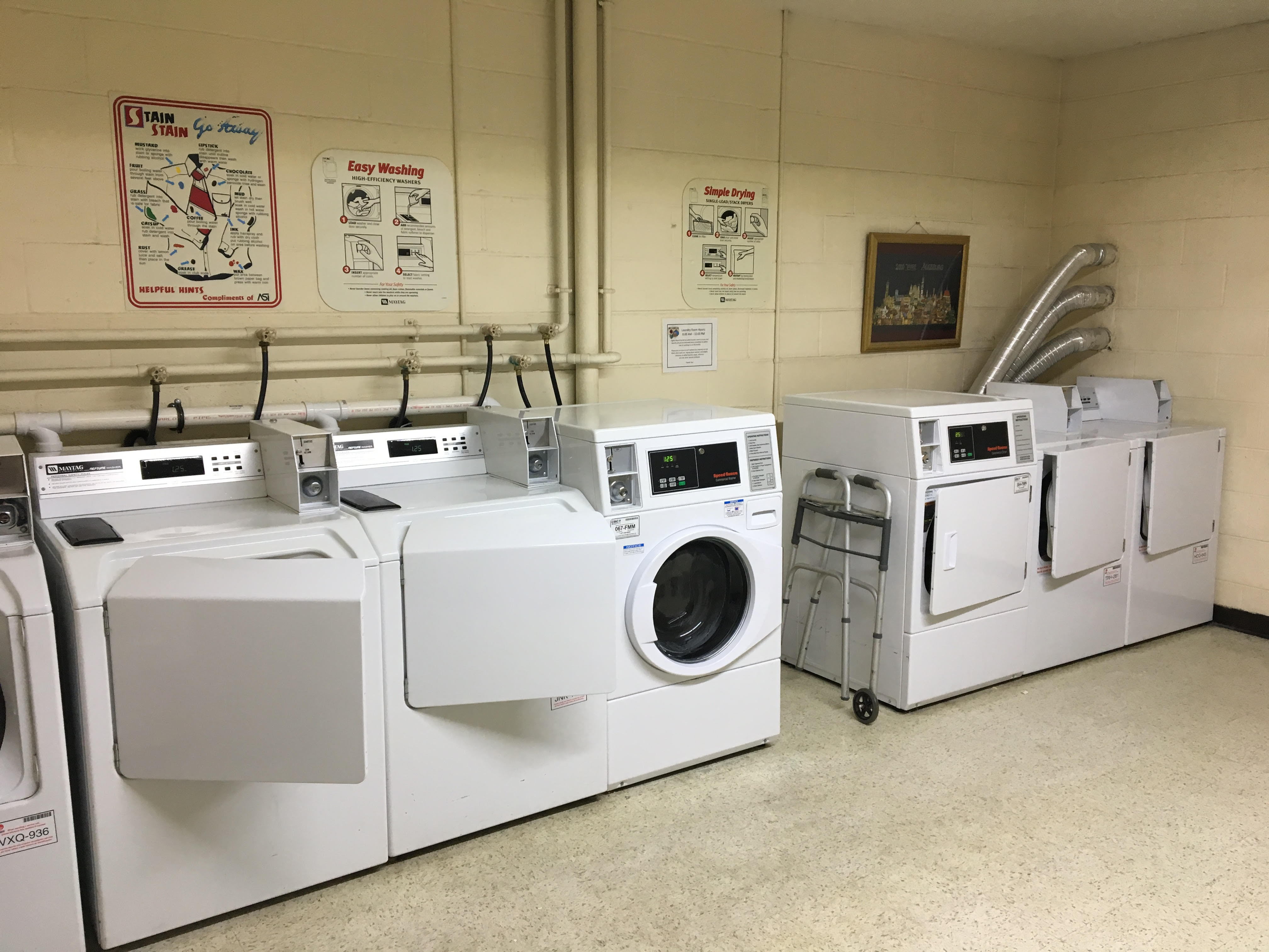 Large Common Area Laundry Room