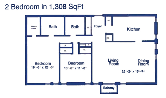 Two Bedroom - 1308 sq ft